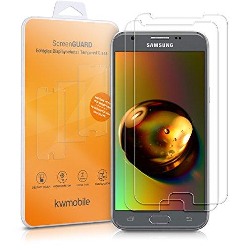 kwmobile 41036.1 Bildschirmschutzfolie für Samsung Galaxy J3 (2017) DUOS, Bump Resistant, Kratzfest, stoßfest, transparent, 2 Stück