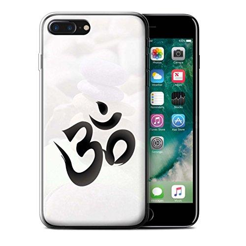 Stuff4 Gel TPU Hülle / Case für Apple iPhone 8 Plus / OM Tempel Muster / Innerer Frieden Kollektion OM Symbol