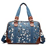Miss Lulu Ladies Handbag Fashion Pattern Shoulder Tote Bags for Women Girls (1106-16J Dark Blue)