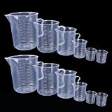 Misurino graduato in plastica Labs bicchieri 20/30/50/100/250/300/500/1000ML (trasparente), per utensili da cucina forniture (20ML, come l' immagine) (30ML, come l' immagine) (50ML, come l' immagine)