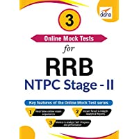 Disha Publication 3 Online Mock Tests for RRB NTPC Stage-II Exam (Email Delivery in 2 Hours - No CD)