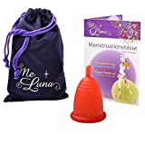 Me Luna Coupe menstruelle Classic, manche, rouge, Taille M