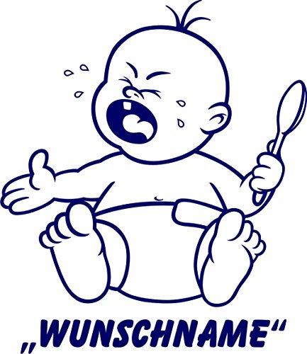 INDIGOS UG - Babystrampler / Strampler 069 mit Wunschname / Wunschtext schwarz 86/92