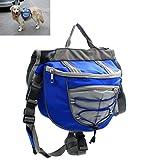 Xiaoyu sac à dos pour chien, sac à dos, harnais de transport réglable, pour le camping de randonnée en voyage, bleu, M