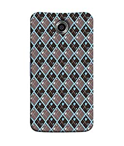 PrintVisa Designer Back Case Cover for Motorola Nexus 6 :: Motorola Nexus X :: Motorola Moto X Pro :: Google Nexus 6 (Green Brown Diamond Design)