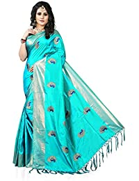 Gaurangi Creation Art Silk Saree With Blouse Piece(Kf1004_Blue Free Size)