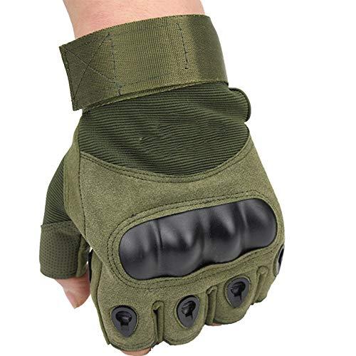 HOUMU rutschfeste verschleißfeste und dauerhafte Taktische Sporthalbfinger-Multifunktionshandschuhe, Outdoor-Fitnesshalbfinger-Hartschalenmänner-Motorrad-Armee-Fanhandschuhe,D - Usa Fingerlose Handschuhe