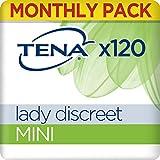 TENA Lady Discreet Mini Pacco Scorta Mensile - Assorbenti per perdite urinarie femminili, discreti e confortevoli, 6 confezioni x 30 pezzi