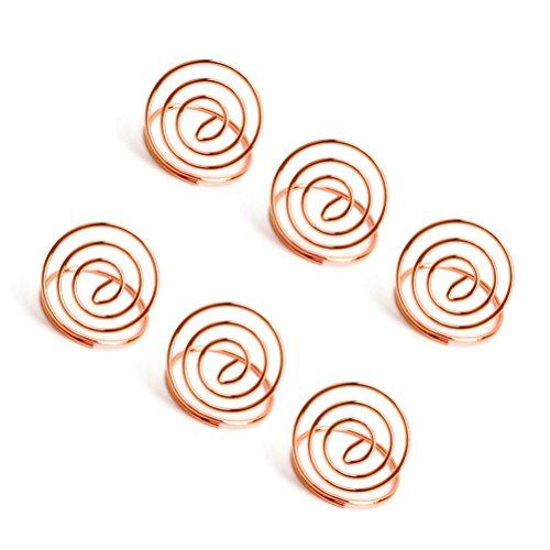 BESTonZON 24 Stücke Tischkartenhalter Edelstahl Anzahl Tischhalter mit Herzform Tabelle Menü Clips (Rose Gold)