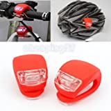 #9: Schrödinger10015 2 x LED Bicycle Cycle Bike Front Rear Tail Headlight Head Torch Lamp Red Light
