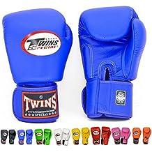 Twins Special Muay Thai Boxing Gloves Boxhandschuhe BGVL-3 Blue 8-10-12-14-16 Oz. (8 Oz.)