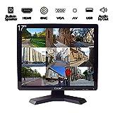 17' CCTV Sicurezza Monitor, 4:3 1280x1024 LCD HD Schermo(LED Retroilluminazione) con AV/HDMI/BNC/VGA/USB Drive Lettore Altoparlante Integrato per Casa/Negozio Sorveglianza Telecamera PC STB