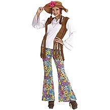 Widman - Disfraz de hippie años 60s para mujer, talla XL (5605W)