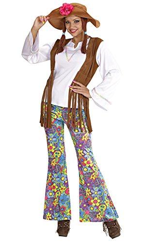 Widmann 5605W Erwachsenenkostüm Hippie, 48 (80er Jahre Bluse)