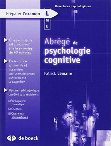 Abrégé de psychologie cognitive par Patrick Lemaire