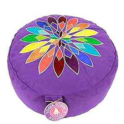 Meditationskissen Chakra Yoga Kissen Multicolor-Bumenmotiv XL