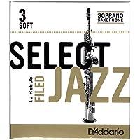 Confezione da 10 ance morbide con taglio francese Rico Select Jazz per sassofono soprano, durezza 3