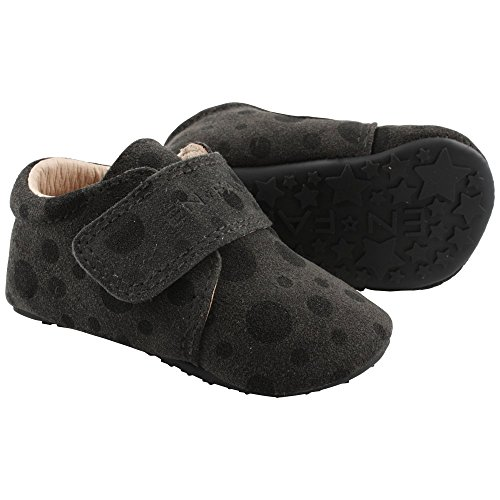 EN FANT Jungen Jupiter Velcro Slipper Pantoffeln Grau (Grey 07)