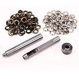 50 Set Silber & 50 Set Altgold Öse Ring Werkzeug Ösenlocher Punch für Leder Lederkraft nähfrei 8mm