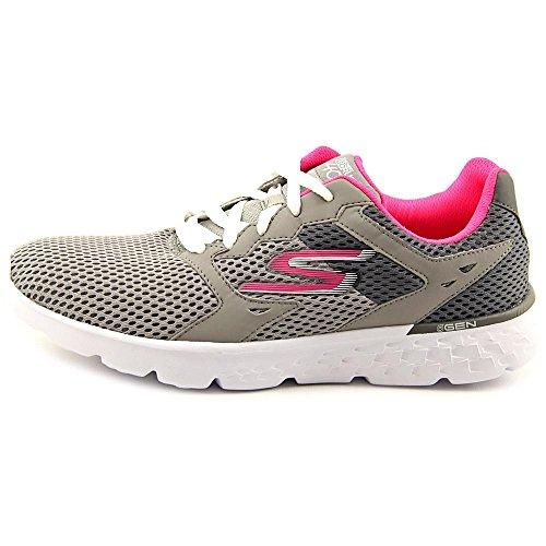 Skechers - Go Run 400, Scarpe sportive Donna Gray and Hot Pink