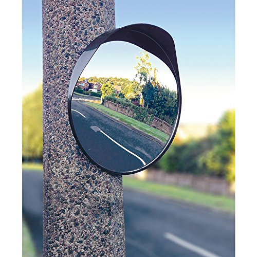 Streetwize SWSM1 30cm Convex Home Driveway Alley Garage Hospital Car Park  Traffic Security Single Round Blind