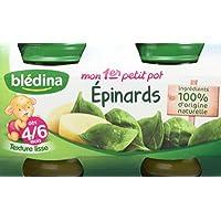 Blédina Mon 1er Petit Pot Epinards 2x130 g - Lot de 6