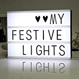 LiliChan Ilumina tu vida Cinematic A4 LED Lightbox con 85 letras negras, números, símbolos