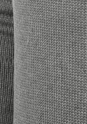 SOLID Paddy Herren Strickpullover Grobstrick Pulli mit Schalkragen aus hochwertiger Baumwollmischung Grey Melange (8236)