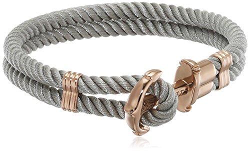 PAUL HEWITT Damen Ankerarmband PHREP mit Nylon Band in Grau und Anker aus IP Roségold PH-PH-N-R-Gr-XL