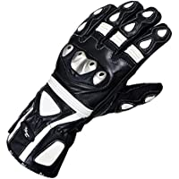 Oxford RP-2 Leather Motorcycle Gloves L White Black GM216L