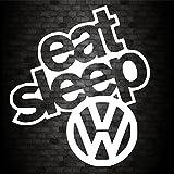 EAT SLEEP VW Sticker Funny Car Van Bike Caravan Window, used for sale  Delivered anywhere in UK