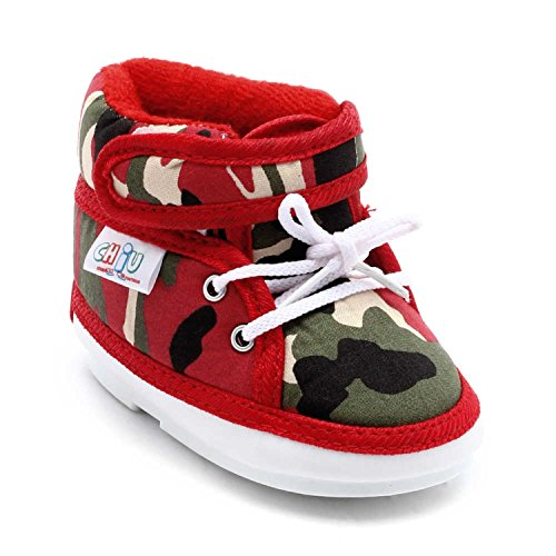 CHIU Chu-Chu military Red Shoes With Lace For 12-15 Months