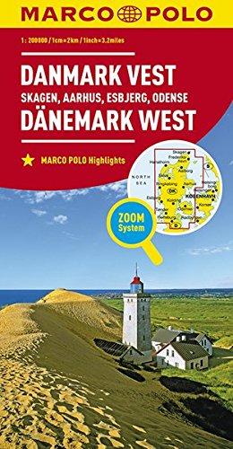 Preisvergleich Produktbild MARCO POLO Karte Dänemark West 1:200 000: Skagen, Aarhus, Esbjerg, Odense (MARCO POLO Karten 1:200.000)