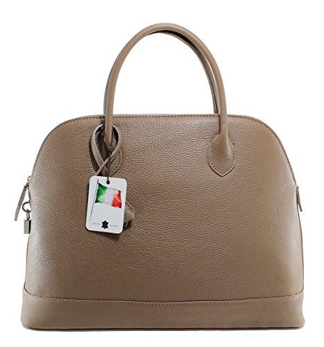 CTM Borsa Donna Classica Elegante, 40x30x15cm, Vera Pelle 100% Made in Italy