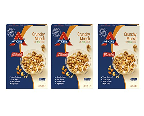 Atkins Day Break Crunchy Muesli Cereal 325 g (Pack of 3) (Faser Müsli)