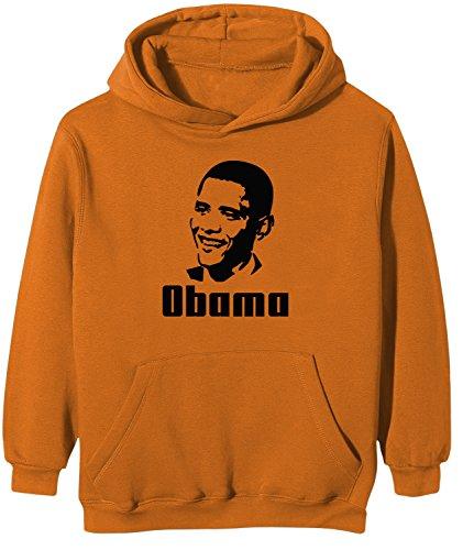 Touchlines Kinder Kapuzen Sweatshirt Barack Obama, orange, 122/128, KK125 Barack Obama Sweatshirt