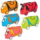 TecTake Kinder Hartschalen Koffer Ziehkoffer mit gummierten Rädern inkl. Trageriemen