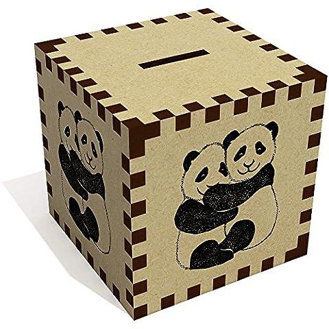 'Panda Étreinte' tirelire en bois (MB00005224)