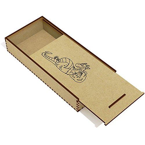 Azeeda 'Drago Rilassante' Astuccio per matite in Legno (PC00009270)