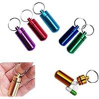 Rokoo 5 Teile / satz Mini Pillendose Fall Schlüsselanhänger Aluminiumlegierung Wasserdichte Medizin Flaschenhalter... preisvergleich bei billige-tabletten.eu