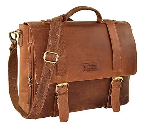 "Accessoires en cuir ""Stanford"" cuir vintage Buffalo, mallette en cuir,"
