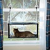 K&H Mascotas  Soporte EZ para Ventanas   Cama para Gatos de Dos Alturas Que se acopla en el umbral de la Ventana