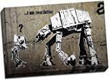 Banksy I Am Your Father Canvas Art Print Graffiti 30x20 Inches A1