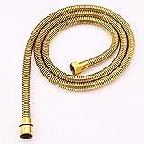 Brauseschlauch,Qualitäts Duschschlauch Brauseschlauch Gold Metall Edelstahl 150 cm/1.5 m für Handbrause/Duschbrause Standard Anschluss/Gewinde/goldener Schlauch optimal für die Badewanne oder Dusche