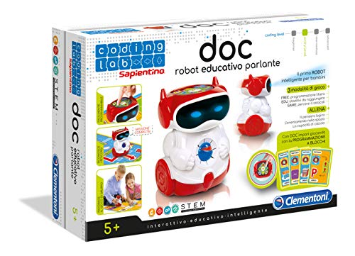 Clementoni- Doc Sapientino Robottino Educativo, Multicolore, 11112