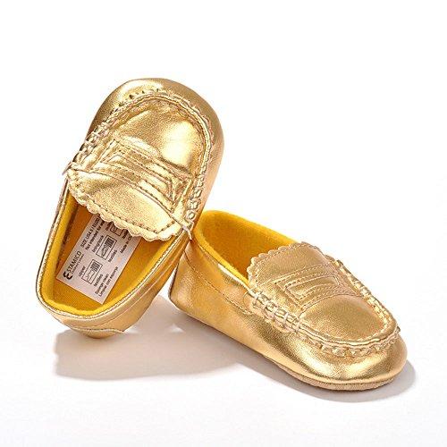 ESTAMICO , Baby Mädchen Lauflernschuhe Gold gold 12-18 Monate gold