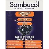 Sambucol Immuno Forte Extrait de Baies de Sureau Noir + Vitamine C + Zinc 30 Gélules