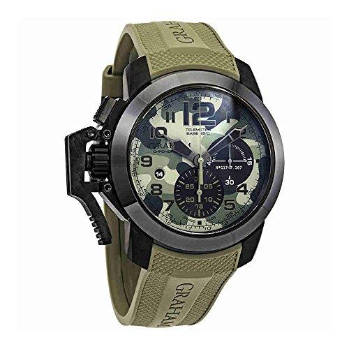Graham Chronofigher 2CCAUG02AK94N - Reloj para hombre, diseño de flecha, color verde y negro