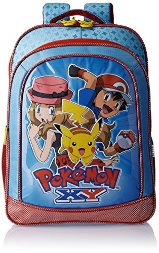 Pokemon-Polyester-16-Inch-Blue-and-Red-Childrens-Backpack-Age-group-6-8-yrs