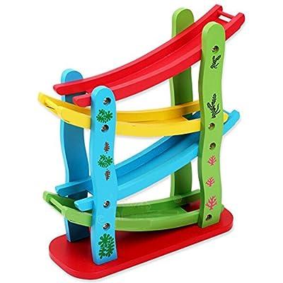 Highdas niños juguetes de madera, de madera Montessori Zig coche del resbalador Apoyarse Juguetes educativos para la primera, bloquea los juguetes para los niños Niños de Highdas network technology Co., Ltd
